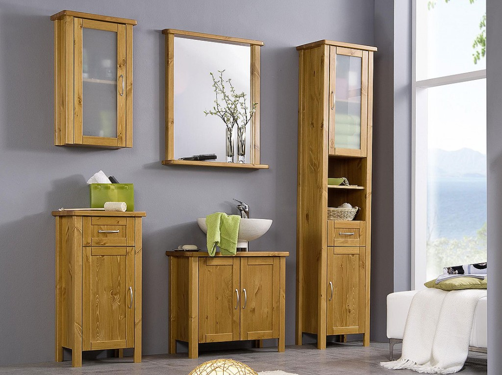 massivholz badm bel set badezimmerm bel komplett bad holz kiefer massiv honig ebay. Black Bedroom Furniture Sets. Home Design Ideas