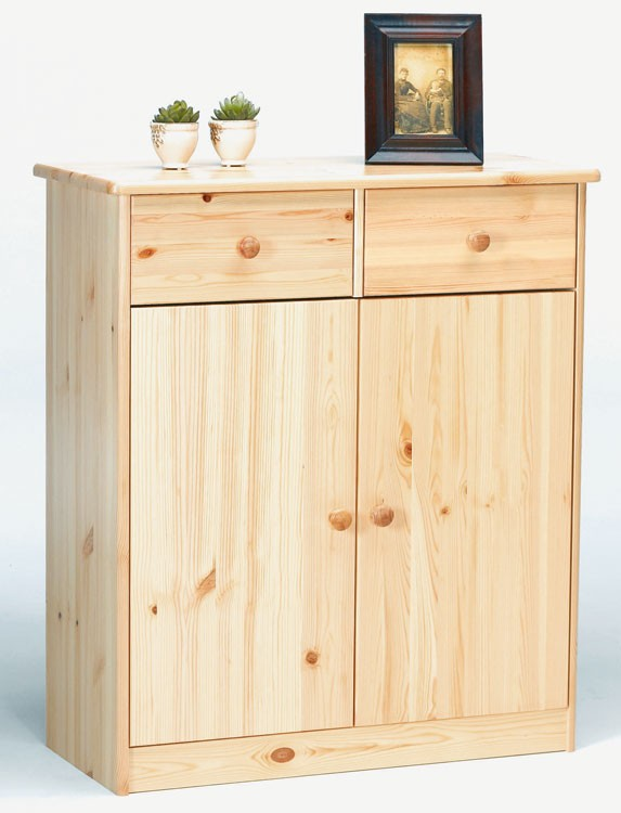 massivholz highboard sideboard kommode anrichte mehrzweckschrank kiefer natur lackiert. Black Bedroom Furniture Sets. Home Design Ideas