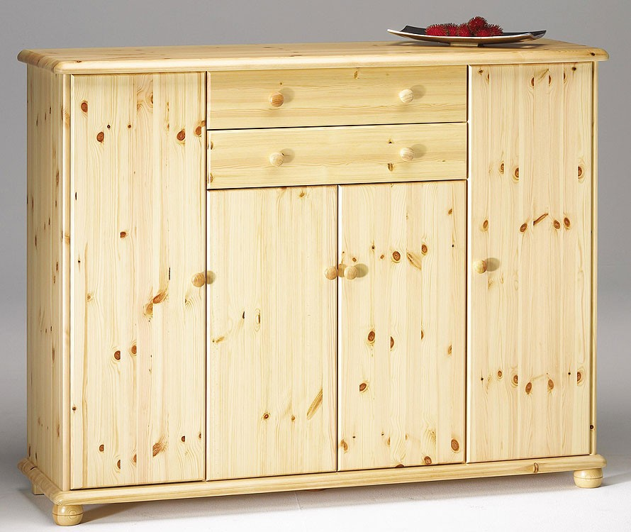 Sideboard anrichte w sche schrank flur kommode kiefer for Sideboard kiefer