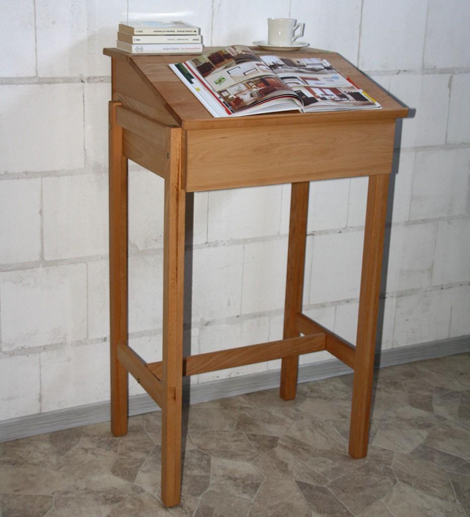 stehpult rednerpult schreibpult lesepult laptop pult tisch buche massiv holz ebay. Black Bedroom Furniture Sets. Home Design Ideas