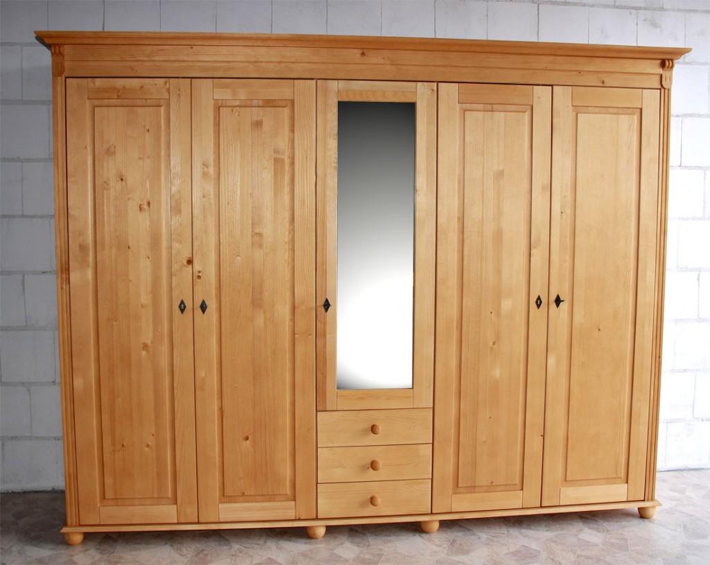 kleiderschrank schlafzimmer schrank dreht renschrank massiv holz honig ge lt ebay. Black Bedroom Furniture Sets. Home Design Ideas