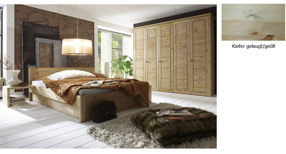 massivholz schlafzimmer landhausstil guldborg kiefer