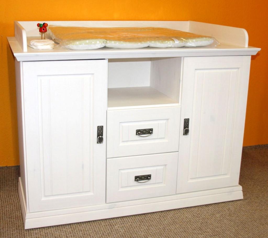 wickelkommode wei wickeltisch wickelschrank kiefer massiv. Black Bedroom Furniture Sets. Home Design Ideas