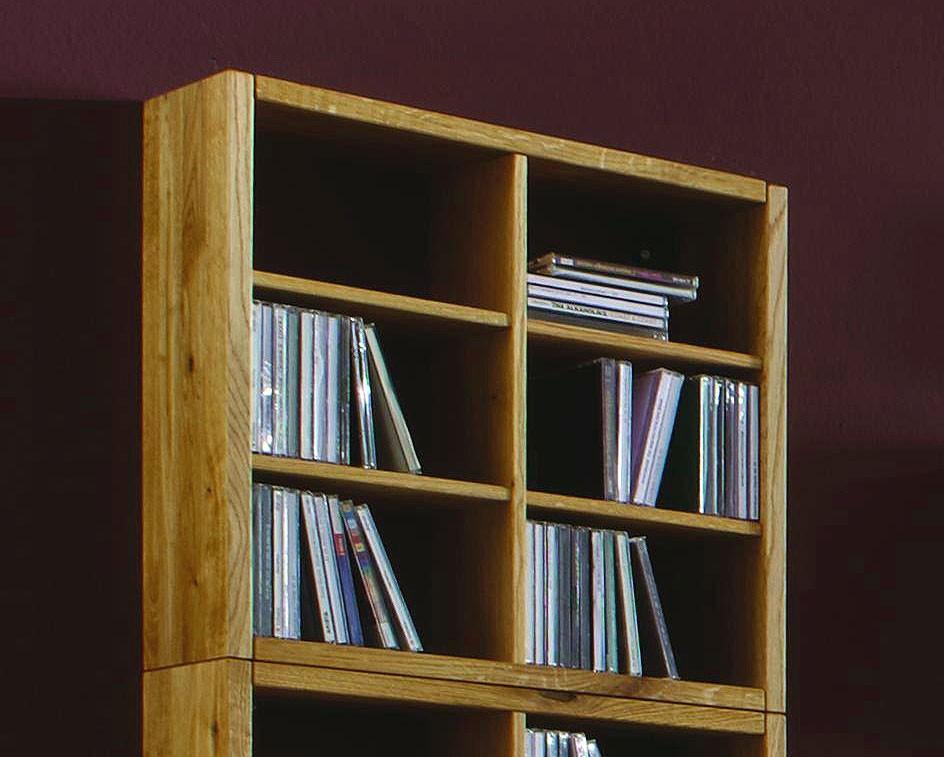 massivholz cd dvd regal wandregal wildeiche ge lt. Black Bedroom Furniture Sets. Home Design Ideas