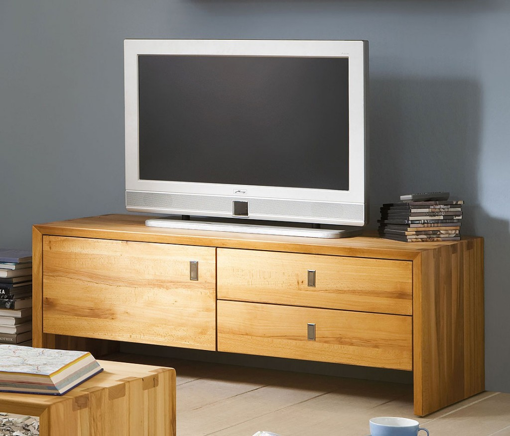 massivholz tv lowboard tv bank kommode kernbuche massiv holz. Black Bedroom Furniture Sets. Home Design Ideas