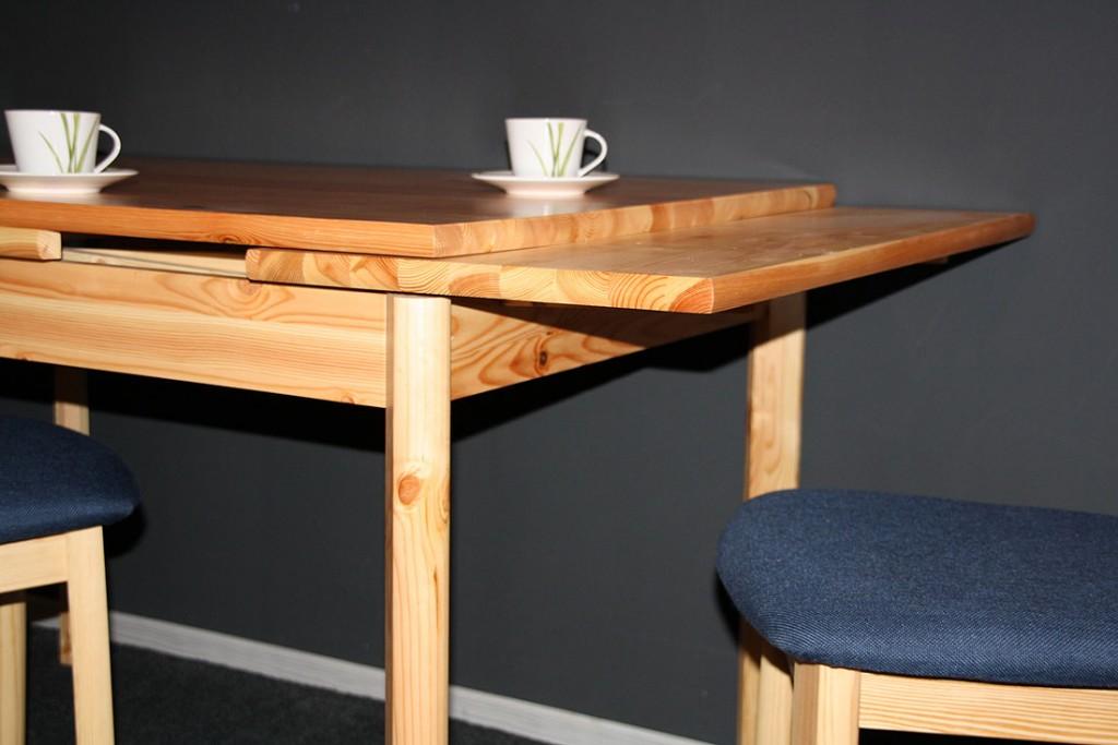 Ausziehtisch 120-200x80 natur lackiert Tisch ausziehbar Massivholz ...