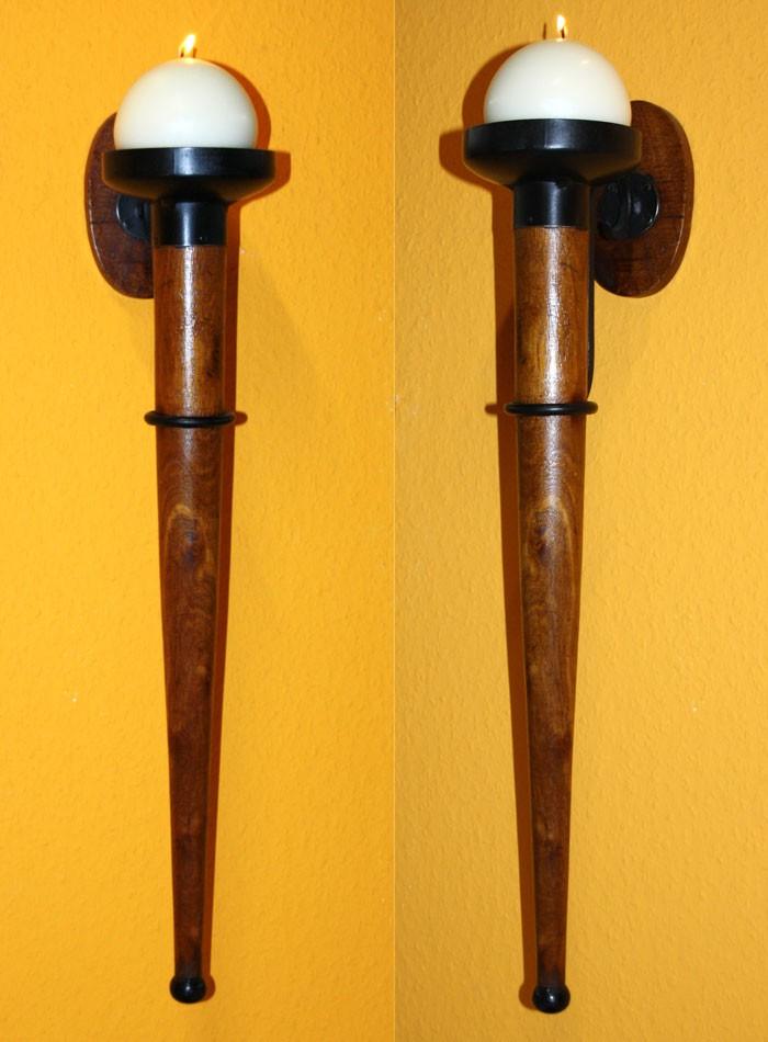 mittelalterlicher wandkerzenhalter antik mittelalter kerzenhalter massiv holz. Black Bedroom Furniture Sets. Home Design Ideas