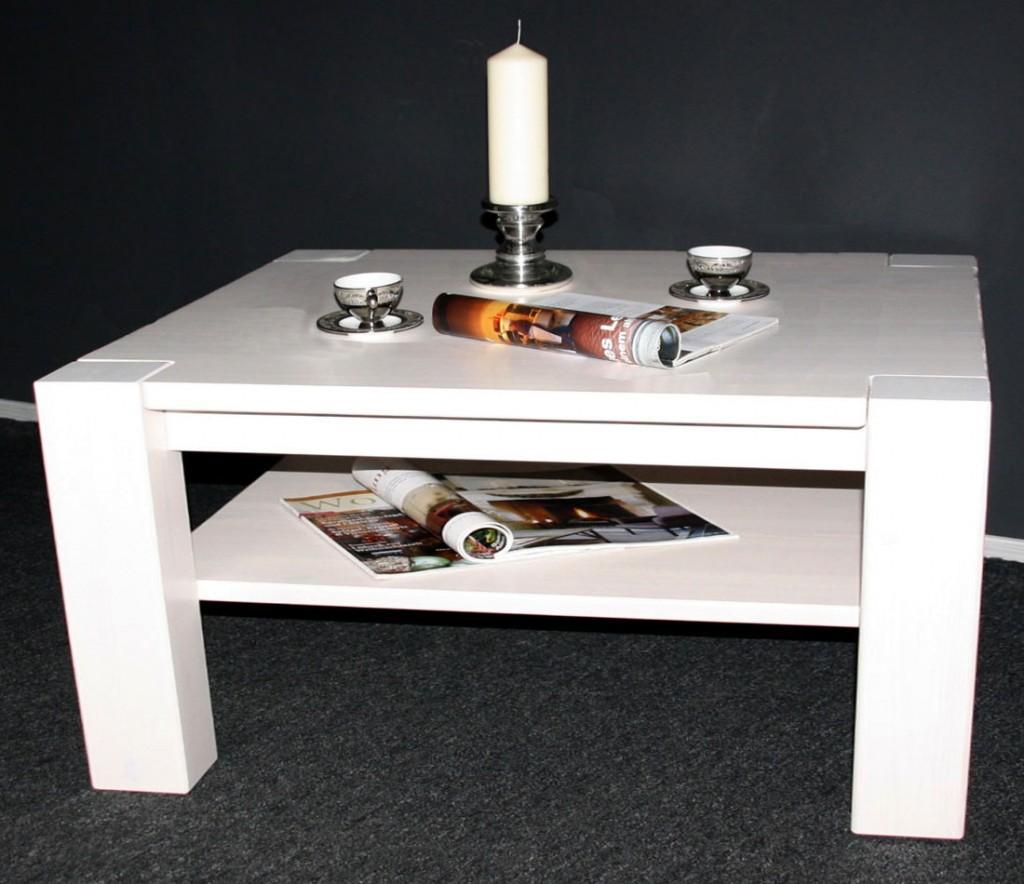 massivholz couchtisch 120x74 sofatisch wohnzimmertisch kiefer wei. Black Bedroom Furniture Sets. Home Design Ideas