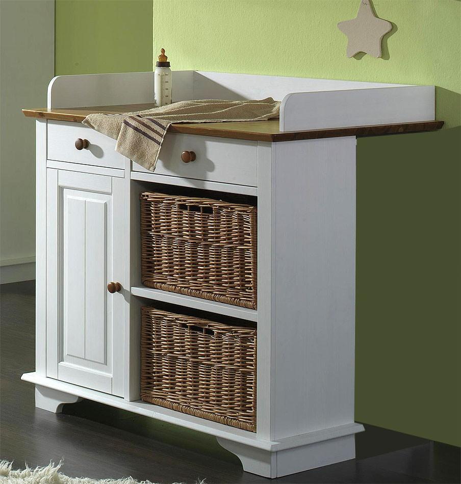 massivholz wickelkommode wickeltisch 1t rig wei honig. Black Bedroom Furniture Sets. Home Design Ideas