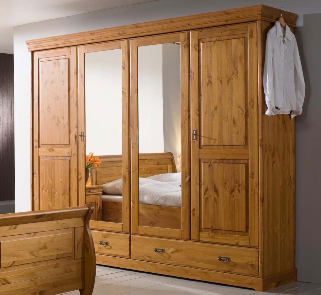 Schlafzimmerschrank Kleiderschrank kiefer massiv holz Schrank ...