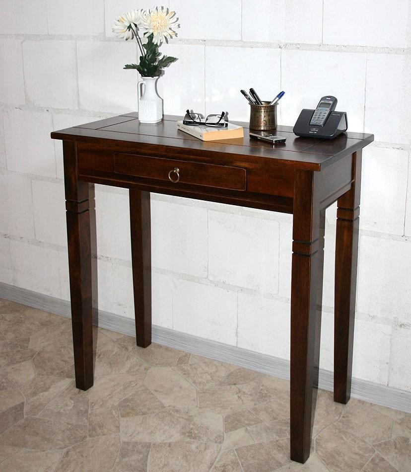 Konsolentisch beistelltisch flur telefontisch massiv holz - Beistelltisch kolonialstil ...
