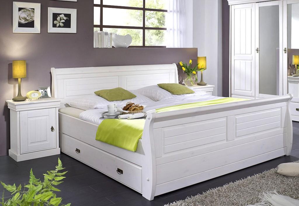 Massivholz Bett Mit Bettkasten Und Nachtisch Kiefer Massiv