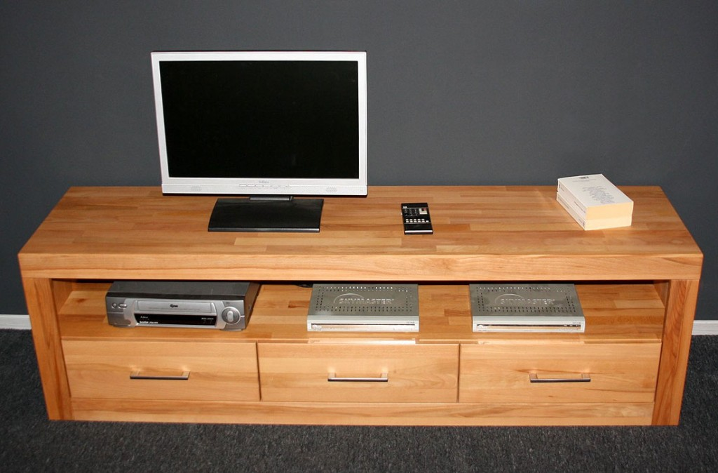tv kommode kernbuche massiv geolt m bel ideen und home. Black Bedroom Furniture Sets. Home Design Ideas