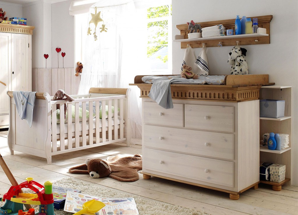 massivholz babyzimmer set babym bel paul kiefer massiv holz wei antik. Black Bedroom Furniture Sets. Home Design Ideas