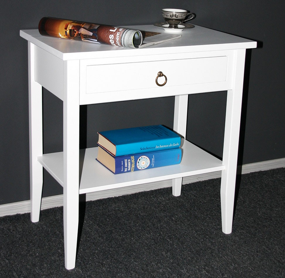 gartenmobel beistelltisch holz weis. Black Bedroom Furniture Sets. Home Design Ideas