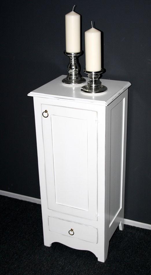 kommode w scheschrank flurkommode telefon schrank schmal holz massiv wei antik ebay. Black Bedroom Furniture Sets. Home Design Ideas