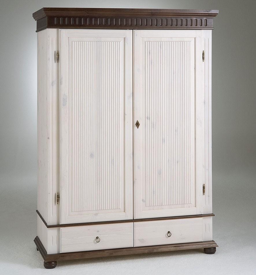 kleiderschrank 2 t rig wei kolonial kiefer massiv poarta. Black Bedroom Furniture Sets. Home Design Ideas