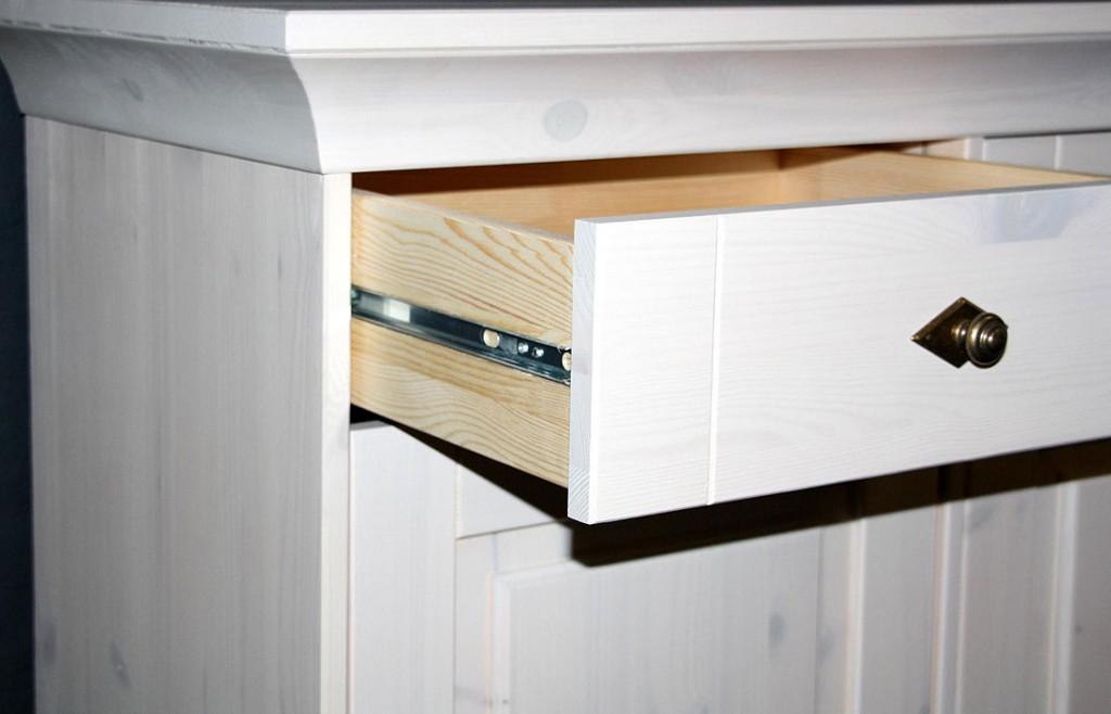 buffet schrank wei k chen schrank esszimmer m bel kiefer massiv holz landhaus ebay. Black Bedroom Furniture Sets. Home Design Ideas