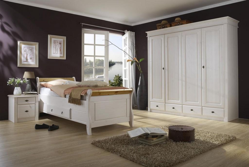 massivholz bett mit schublade 100x200 holzbett kiefer. Black Bedroom Furniture Sets. Home Design Ideas