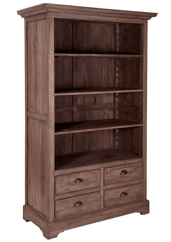 e zimmer b cherregal aktenregal ordner regal b ro m bel schrank teak massiv holz ebay. Black Bedroom Furniture Sets. Home Design Ideas