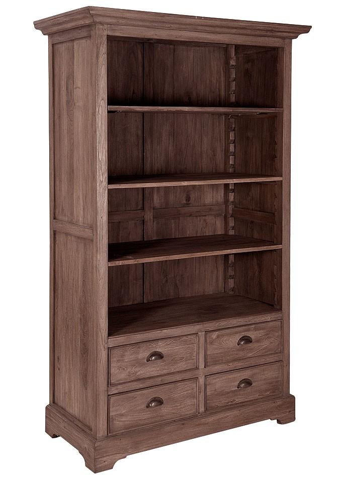 massivholz aktenregal ordnerregal b cherschrank teak unbehandelt. Black Bedroom Furniture Sets. Home Design Ideas