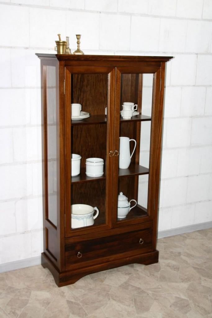 vitrinenschrank sammler vitrine glas schrank kolonial. Black Bedroom Furniture Sets. Home Design Ideas