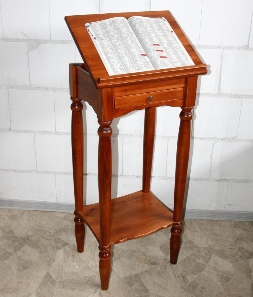 stehpult rednerpult notenst nder lesepult massiv holz kirsch kirschbaumfarben ebay. Black Bedroom Furniture Sets. Home Design Ideas