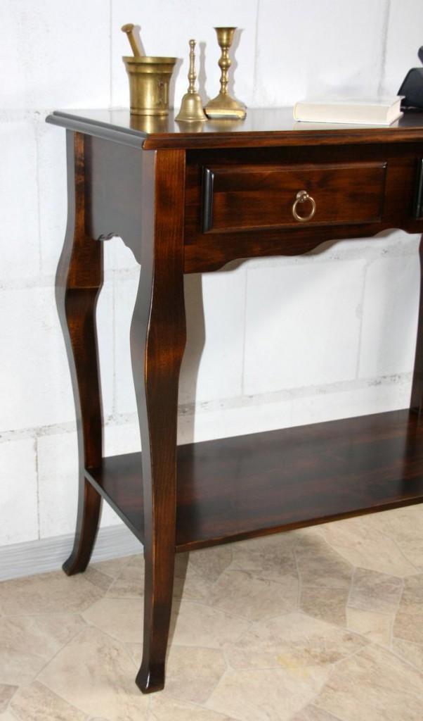 Telefontisch konsolentisch wandtisch beistelltisch massiv for Wandtisch holz
