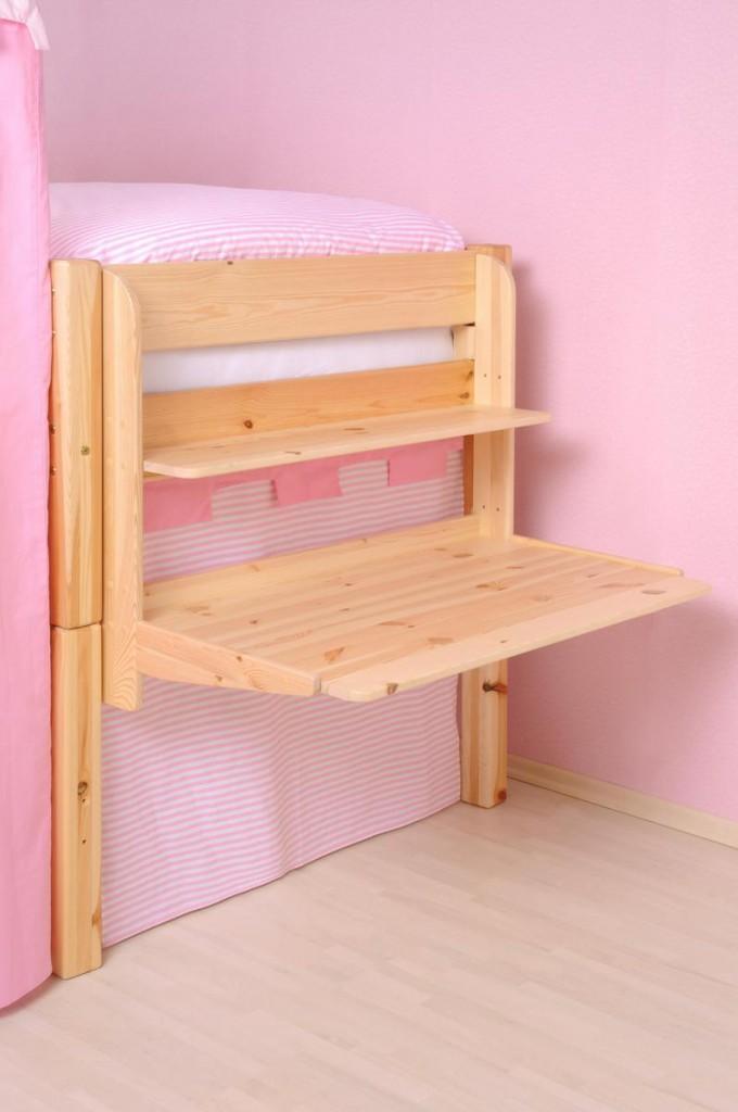 hochbett h ngeschreibtisch kinder schreibtisch sch ler kiefer massiv holz natur ebay. Black Bedroom Furniture Sets. Home Design Ideas