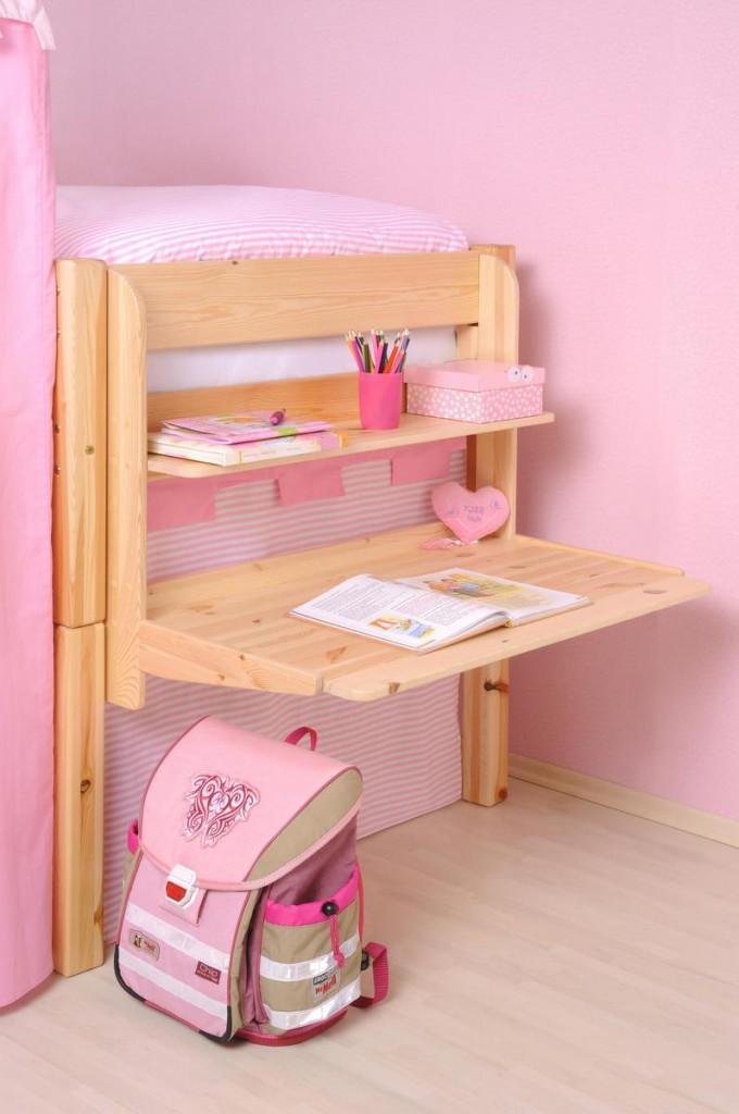 hochbett h ngeschreibtisch kinder schreibtisch sch ler. Black Bedroom Furniture Sets. Home Design Ideas
