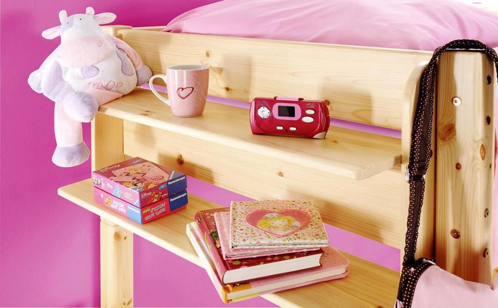 einh ngeregal h ngeregal kinderzimmer hochbett regal kiefer massiv holz natur ebay. Black Bedroom Furniture Sets. Home Design Ideas