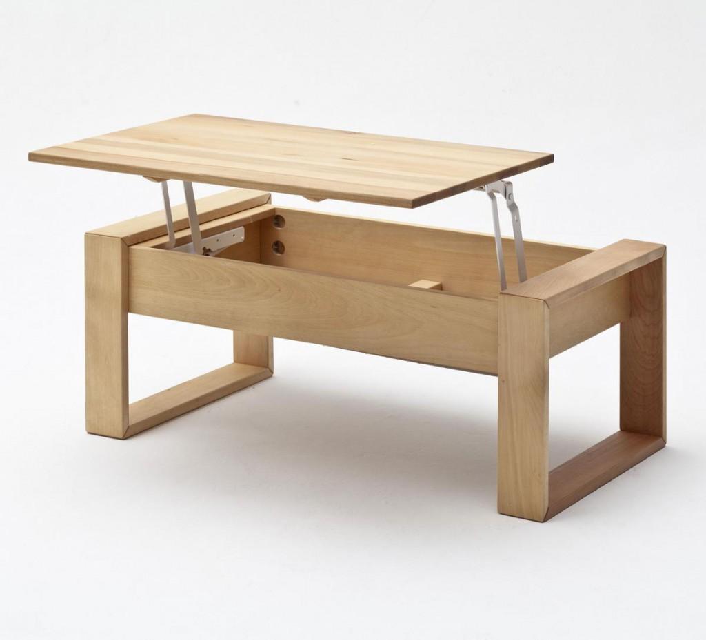 Couchtisch Kernbuche Massiv Gelt Massivholz Wohnzimmertisch Holz Tisch