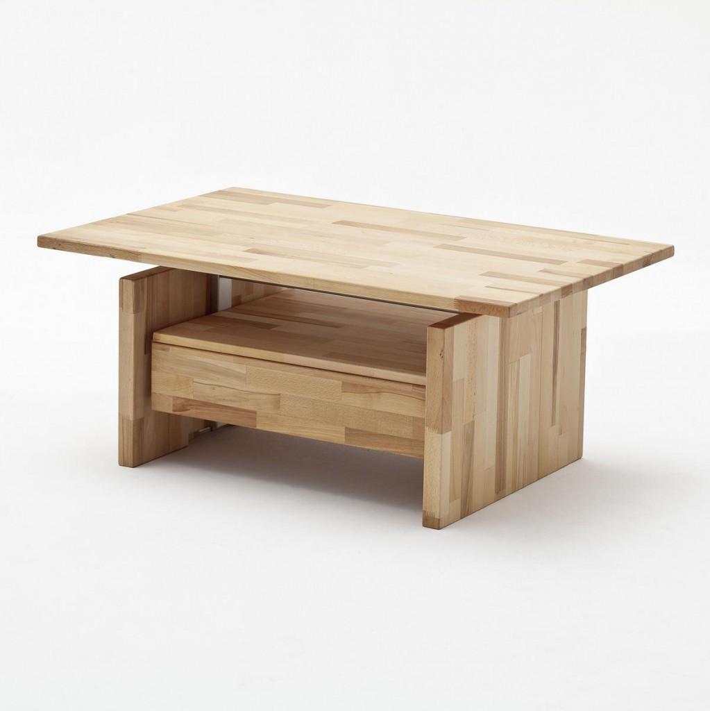 couchtisch h henverstellbar ge lt wohnzimmertisch 110x70cm holz massiv kernbuche ebay. Black Bedroom Furniture Sets. Home Design Ideas