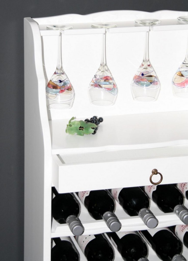 weinregal wei flaschenregal weinschrank barschrank f r 25. Black Bedroom Furniture Sets. Home Design Ideas