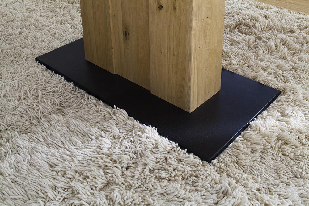 Bodenplatte aus Granit Casera Säulentisch