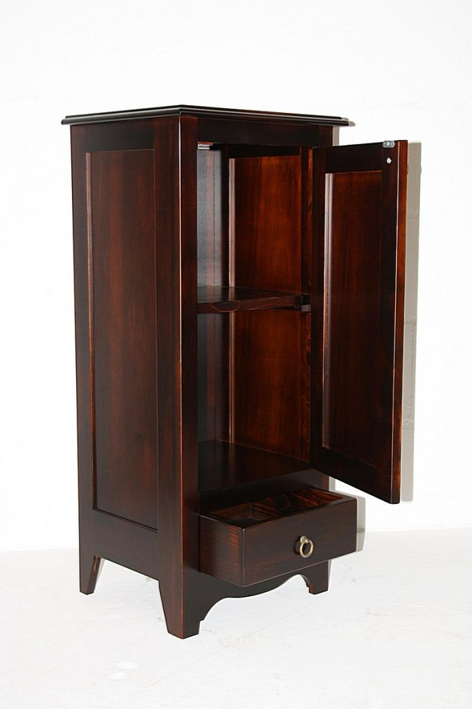 massivholz kommode w scheschrank badschrank schmal massiv. Black Bedroom Furniture Sets. Home Design Ideas