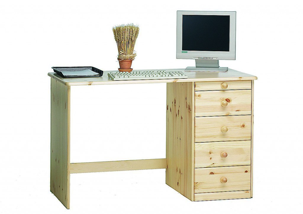 Massivholz schreibtisch computertisch kent holz kiefer for Computertisch holz