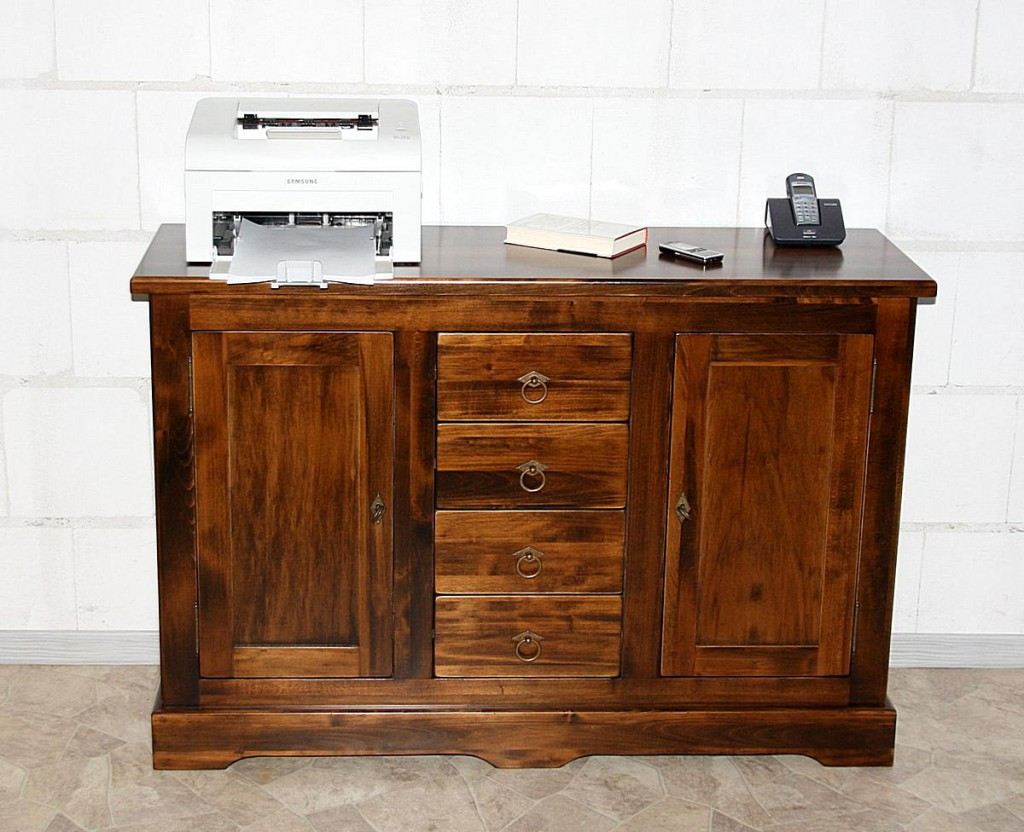 massivholz kommode 2 t rig mit 4 schubladen sideboard pappel kolonial. Black Bedroom Furniture Sets. Home Design Ideas