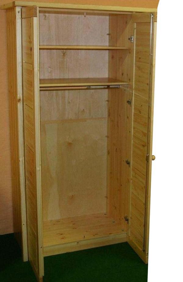 massivholz kleiderschrank 5 t rig kiefer schlafzimmerschrank natur. Black Bedroom Furniture Sets. Home Design Ideas