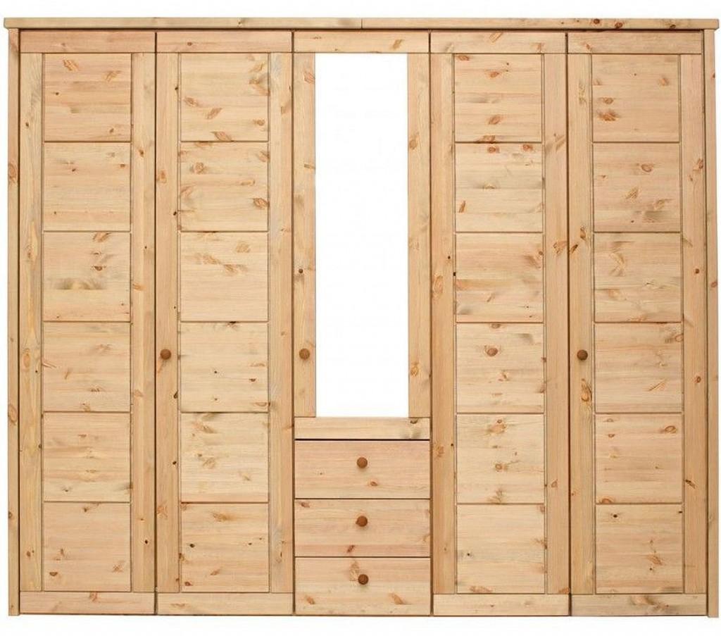 massivholz schlafzimmerschrank 5t rig kleiderschrank