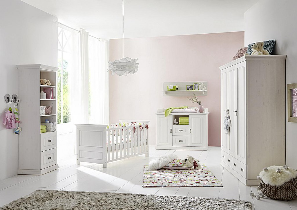 massivholz babybett wei gewachst kinderbett gitterbett kiefer massiv. Black Bedroom Furniture Sets. Home Design Ideas
