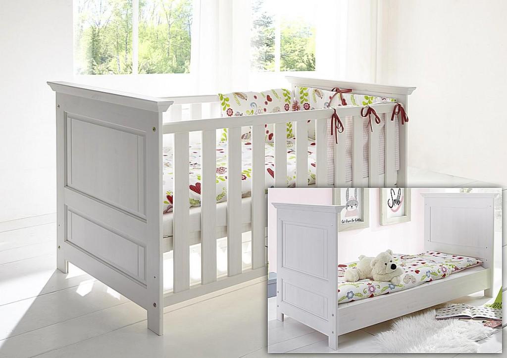 babybett weiss holz mitwachsendes babybett evidence wei und holz farbe massivholz babybett. Black Bedroom Furniture Sets. Home Design Ideas