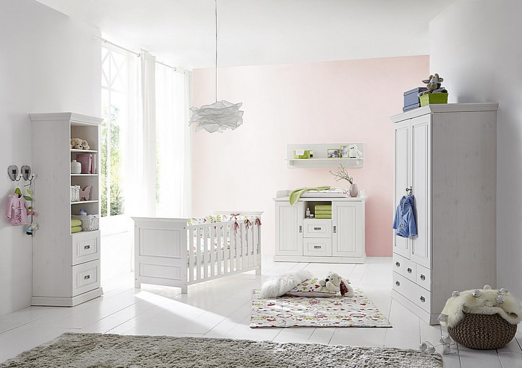 massivholz babybett juniorbett wei gewachst kinderbett kiefer massiv. Black Bedroom Furniture Sets. Home Design Ideas