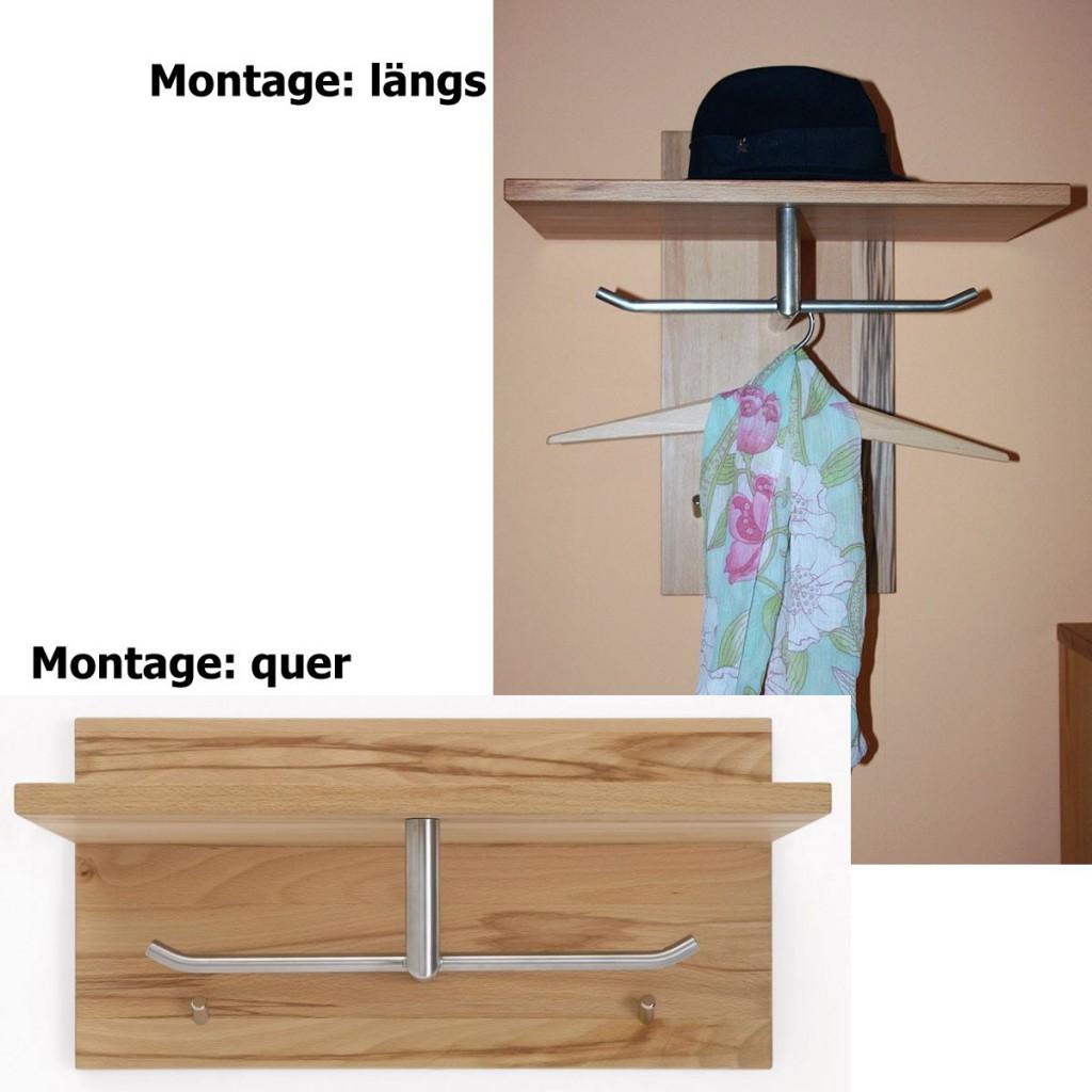 massivholz wandpaneel garderobe hutablage kernbuche ge lt. Black Bedroom Furniture Sets. Home Design Ideas