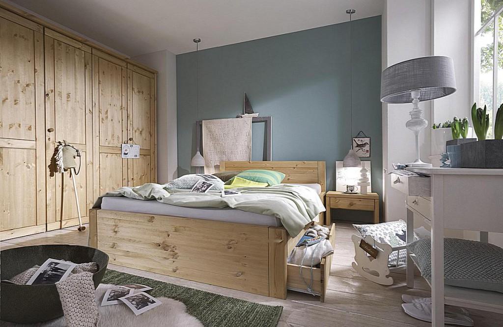 massivholz bett 100x200 2 schubladen komforth he xl schubladenbett kiefer natur. Black Bedroom Furniture Sets. Home Design Ideas