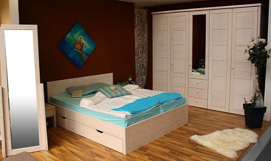 massivholz bett 160x200 4 schubladen komforth he xl schubladenbett kiefer wei oder honig. Black Bedroom Furniture Sets. Home Design Ideas