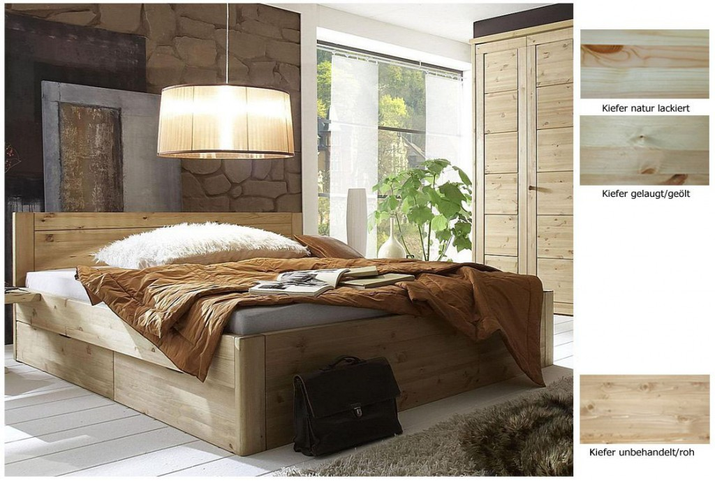 massivholz bett 200x200 4 schubladen komforth he xl schubladenbett kiefer natur. Black Bedroom Furniture Sets. Home Design Ideas