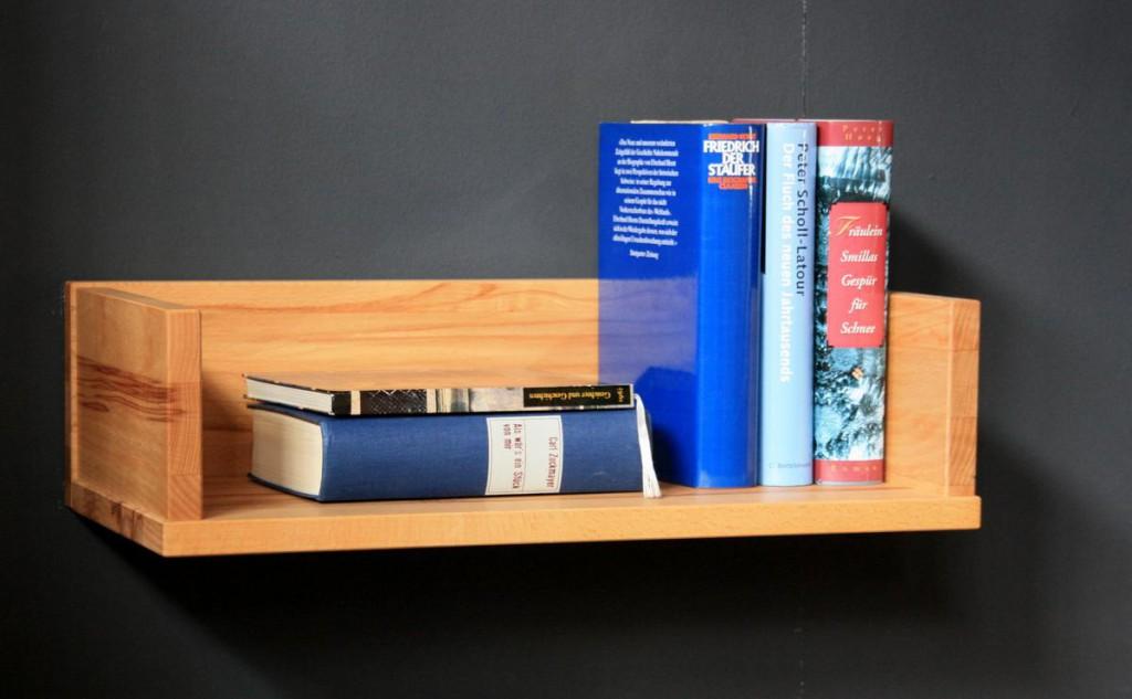 massivholz wandboard schmal wandregal kernbuche ge lt. Black Bedroom Furniture Sets. Home Design Ideas