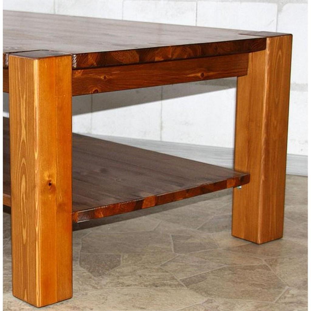 Massivholz couchtisch 90x90 sofatisch wohnzimmertisch kiefer for Massivholz wohnzimmertisch