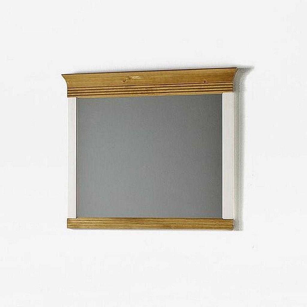 wandspiegel mit rahmen dielenspiegel kiefer massiv wei antik. Black Bedroom Furniture Sets. Home Design Ideas